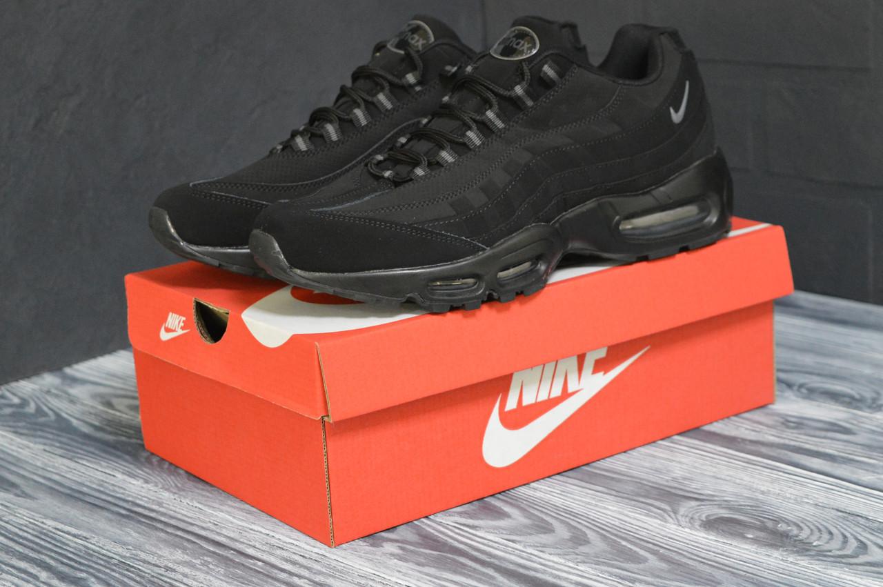 Кроссовки спортивные мужскиеNike Air 95 осенние кросовки черные зимние