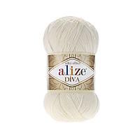 Alize Diva, №62, кремовый