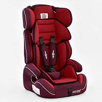 Автокресло универсальное для детей модель Е 4327 (2), цвет красный, вес от 9 до36 кг, с бустером, Joy.