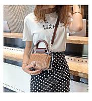 Модная женская сумка в сумке - Плетеная прозрачная, фото 3