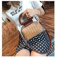 Модная женская сумка в сумке - Плетеная прозрачная, фото 4