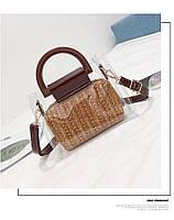 Модная женская сумка в сумке - Плетеная прозрачная, фото 5