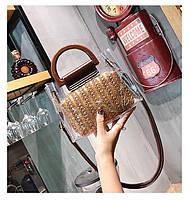 Модная женская сумка в сумке - Плетеная прозрачная, фото 6