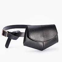 Модна жіноча сумка на пояс - Чорна, фото 3