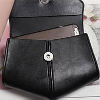 Модна жіноча сумка на пояс - Чорна, фото 4