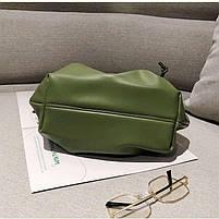 Модная женская сумка пельмень - Зеленая, фото 6