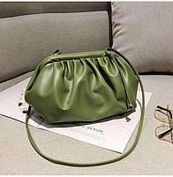 Модная женская сумка пельмень - Зеленая, фото 5