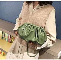 Модная женская сумка пельмень - Зеленая, фото 8