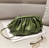 Модная женская сумка пельмень - Зеленая, фото 7