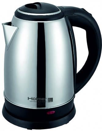 Электрочайник Holmer HKS-1819 Silver, 1800W, 1.8 л, чайник металлический электрический, електрочайник, фото 2