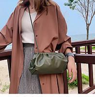 Модная женская сумка пельмень - Зеленая, фото 9