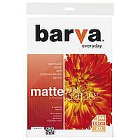Фотобумага Barva, матовая, A4, 105 г/м2, 20 листов (IP-AE105-311)