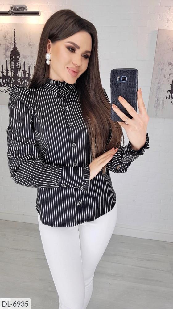 Блузка женская кофточка рубашка в полоску размеры 42 44 46 48 Новинка 2020 есть цвета