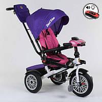 Велосипед для детей 3-х колёсный Best Trike СИРЕНЕВЫЙ ПОВОРОТНОЕ СИДЕНЬЕ,, СКЛАДНОЙ РУЛЬ, ПУЛЬТ СВЕТА И ЗВУКА.