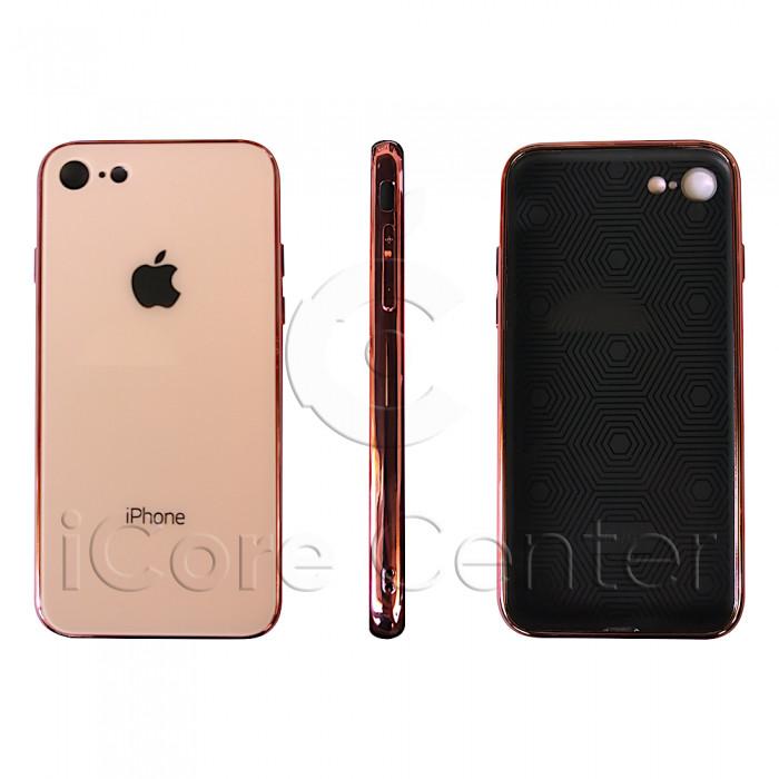 Чохол Glass Case logo Rose Gold для iPhone 7 / 8
