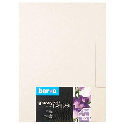 Фотобумага Barva, глянцевая, А3, 230 г/м2, 50 листов (IP-C230-106), фото 2