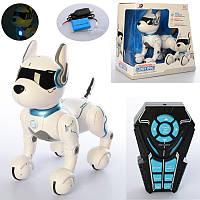 Собака на радиоуправлении A001, собака 29см, музыка, свет, реагирует на голос, ездит, программируемый, US