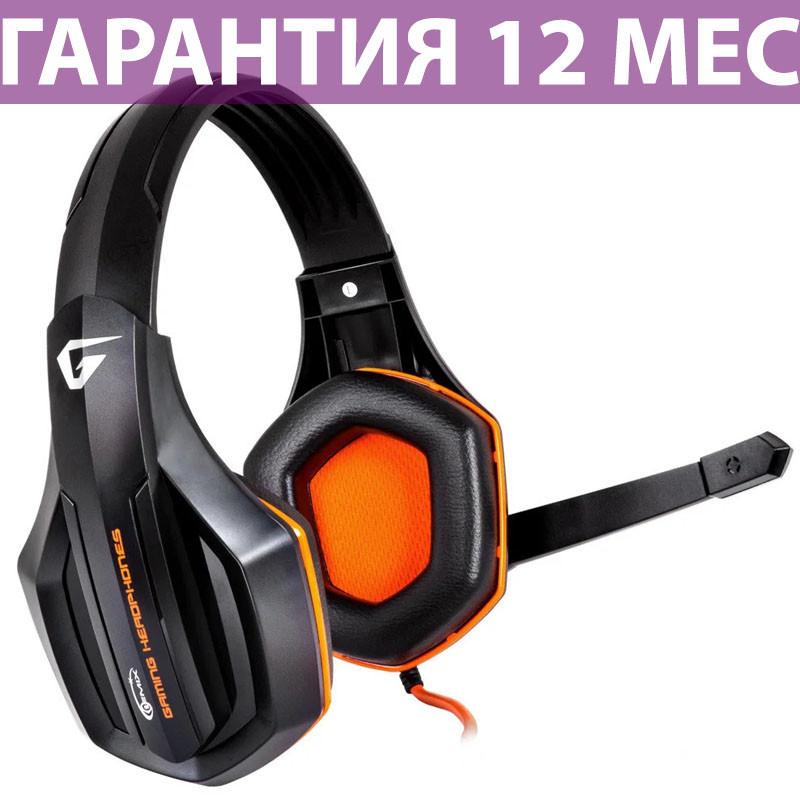 Наушники Gemix W-330 Gaming Black/Orange, 2 x Mini jack (3.5 мм), накладные, кабель 2.4 м