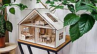 Кукольный домик с мебелью. Дом для кукол из фанеры.