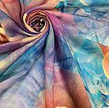 10194-15, павлопосадский платок шерстяной (разреженная шерсть) с швом зиг-заг, фото 5
