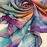 10194-15, павлопосадский платок шерстяной (разреженная шерсть) с швом зиг-заг, фото 9