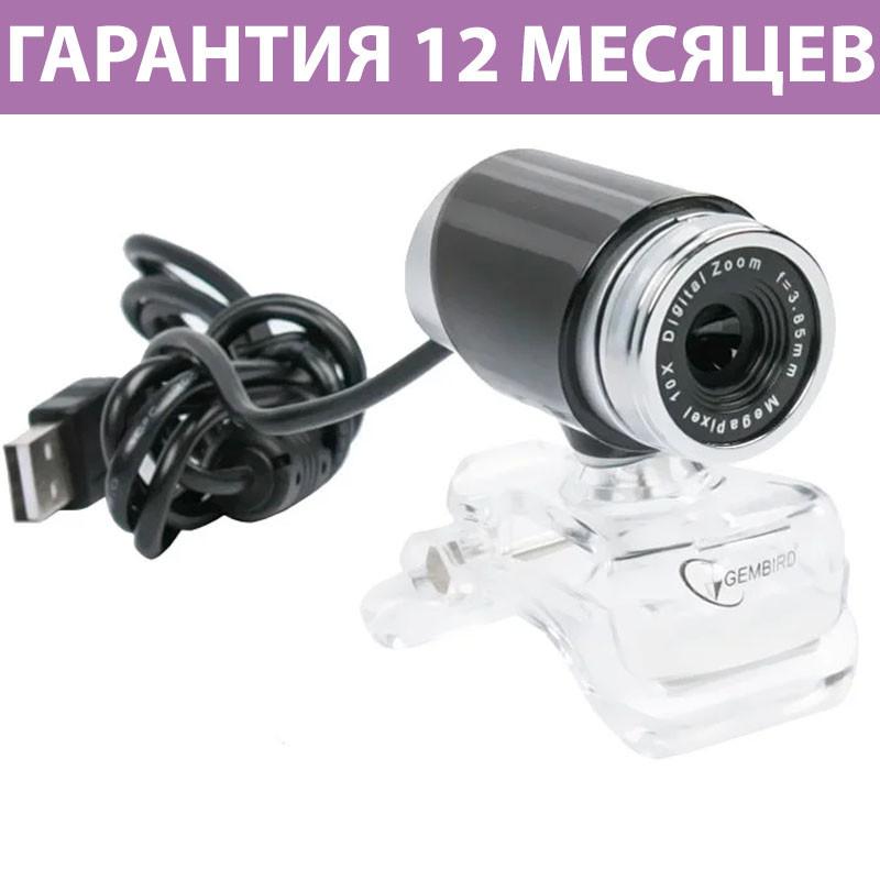 Веб-камера Gembird CAM100U, USB 2.0, встроенный микрофон