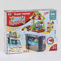"""Игровой набор для детей """"Магазин"""" 008-911, в коробке 61 предметов для игры в магазин, касса, звук и подсветка."""