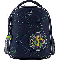 Детский школьный каркасный рюкзак для мальчиков Kite Education Football K20-555S-2 Синий