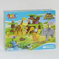 """Конструктор для детей """"Зоопарк"""" модель JDLT 5286 (12/2), в коробке 83 детали."""