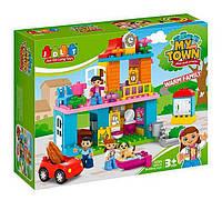 """Конструктор для детей """"Семья"""" модель JDLT 5295 (12/2), в коробке 3 фигурки и 96 деталей."""