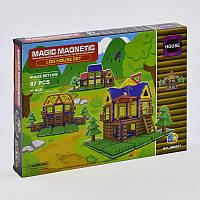 """Конструктор магнитный для детей модель JH 8857 """"Коттедж"""", в наборе 87 деталей, в коробке с аксессуарами."""