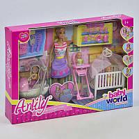 """Кукла для девочек модель 99204 Anlily """"Счастливая семья""""в коробке: 2 пупса,мебель,посуда, набор аксессуаров."""