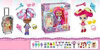 Кукла  для девочек модель B 1170 в набор входит детская косметика в чемодане на колесах и аксессуары.