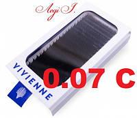 Ресницы Vivienne C 0.07. чёрные MIX. 20 линий