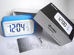 Электронные часы - будильник Atima AT-608 включение подсветки по звуку