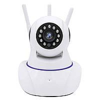 Поворотная сетевая IP-камера WIFI на 3 антенны Onvif Q5T c датчиком движения, фото 1