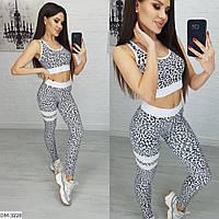 Модный леопардовый спортивный костюм для фитнеса арт 412