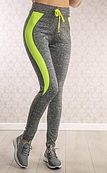 Женские спортивные леггинсы со шнурком
