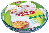 Форма для запекания стеклянная круглая Pyrex Flan Dish 814B000 30см