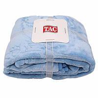 Плед TAC Embos детский 100*120 голубой 100x120