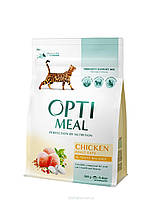 Корм Optimeal, для кошек с курицей, 4 кг kt016