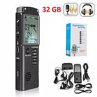 Цифровой диктофон Т60, 32 Гб. Функция активации голосом.