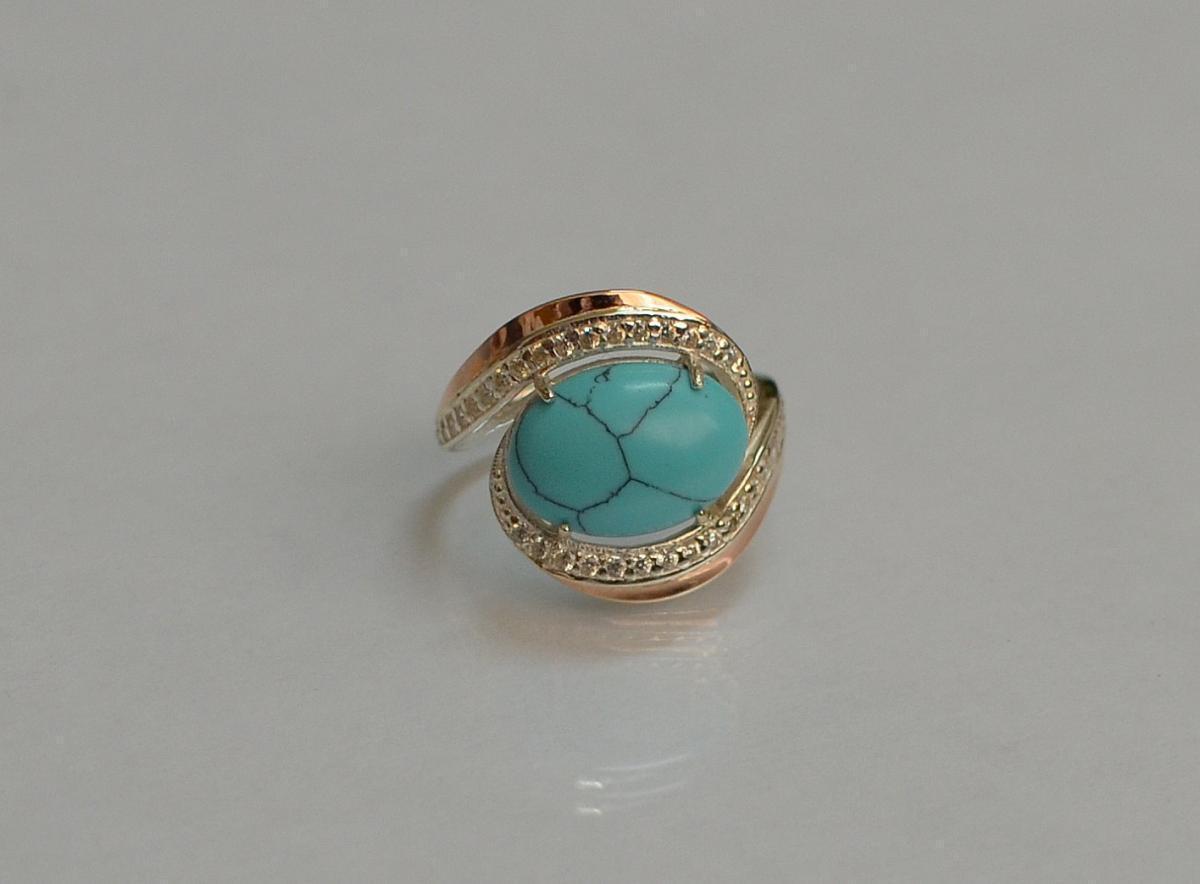 Серебряное кольцо с золотом 148к 15