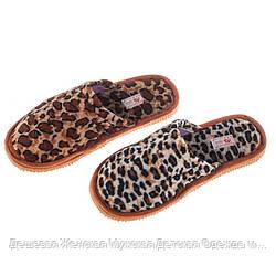 Жіночі леопардові домашні тапочки