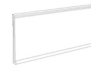Ценникодержатель dbr самоклеющийся, высота 39 мм, длина 80 мм, прозрачный, фото 2