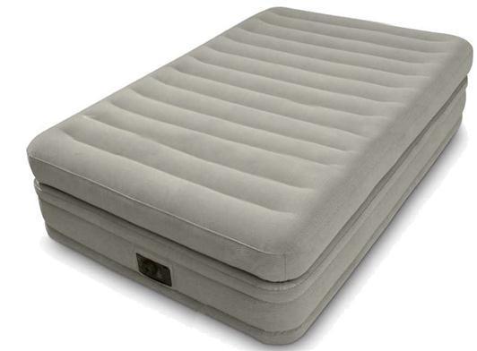 Надувная велюровая кровать Intex (64444), 191-99-51 см,с электронасосом