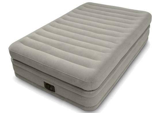 Надувная велюровая кровать Intex (64444), 191-99-51 см,с электронасосом, фото 2