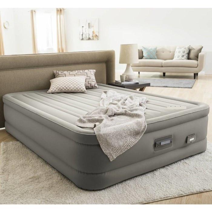 Надувне ліжко велюр Intex (64770) 203-152-46см