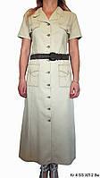 Платье женское, повседневное в стиле сафари. Платье с поясом. Хлопок 100%. Польша. Р-р 48-58. Женская одежда.