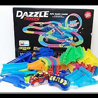 Конструктор DAZZLE TRACKS 187 деталей с пультом управления 425см трасса с гоночной машинкой, фото 1